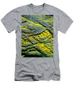 Layers In Blue And Yellow Men's T-Shirt (Athletic Fit)