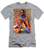 Maasai Grandmother And Child Men's T-Shirt (Athletic Fit)