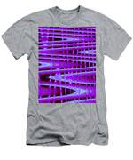Moveonart Abstract Waves And Light Seven Men's T-Shirt (Athletic Fit)