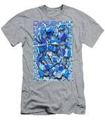 Oars And Rudders - Blue Men's T-Shirt (Athletic Fit)