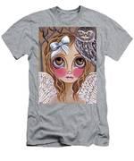 Owl Angel Men's T-Shirt (Athletic Fit)