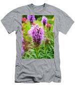 Purple Blazing Star 01 Men's T-Shirt (Athletic Fit)