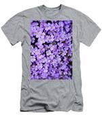 Purple Flowers - Rockcress Men's T-Shirt (Athletic Fit)