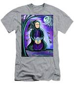 Purple Wise Woman Of The Sacred Raven Men's T-Shirt (Athletic Fit)