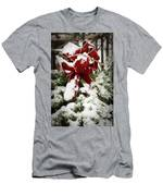 Red Bow On Pine Bough Men's T-Shirt (Athletic Fit)