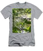 Summer Mountain Creek Men's T-Shirt (Athletic Fit)