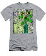 Sunflowers In A Green Vase Men's T-Shirt (Athletic Fit)