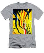 Sunny Morning, Energy. Abstract Art Men's T-Shirt (Athletic Fit)
