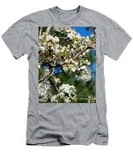 Sunny Pear Blossoms Men's T-Shirt (Athletic Fit)
