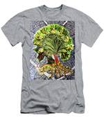 Tree In The Garden On Aluminum Substate Men's T-Shirt (Athletic Fit)