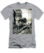Waiting For The Blue Line Men's T-Shirt (Athletic Fit)