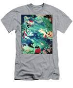 Water Panda Men's T-Shirt (Athletic Fit)