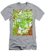 Waxleaf Privet Blooms On A Sunny Day Men's T-Shirt (Athletic Fit)