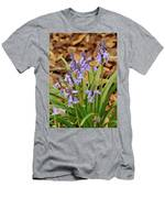 Wood Hyacinth Blue Men's T-Shirt (Athletic Fit)