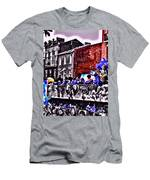 Zulu Krewe In Red And Blue Men's T-Shirt (Athletic Fit)