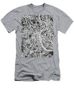 Cologne Germany City Map Men's T-Shirt (Athletic Fit)