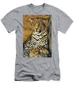 African Leopard Portrait Wildlife Rescue Men's T-Shirt (Athletic Fit)