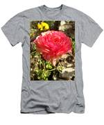 Double Coloured Rose Men's T-Shirt (Athletic Fit)