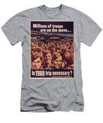 Vintage Poster - Is Your Trip Necessary? Men's T-Shirt (Athletic Fit)