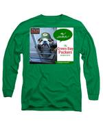 Green Bay Packers Long Sleeve T-Shirt by Kathy Tarochione