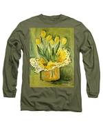 Easter Tulips Long Sleeve T-Shirt by Maria Langgle