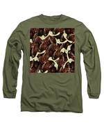Brown Pod Puffs Long Sleeve T-Shirt by Rockin Docks
