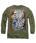 Kyanite And Wood Alchemy  Long Sleeve T-Shirt by Rachel Hannah