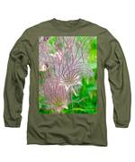 Prairie Smoke Long Sleeve T-Shirt by Ann E Robson