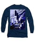 Skyline Reflection On Water Long Sleeve T-Shirt by Jennifer Hotai