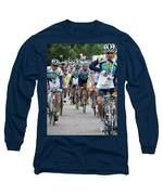 Astana Team With Lance Armstrong Long Sleeve T-Shirt by Travel Pics