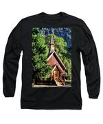 Yosemite National Park Valley Chapel Long Sleeve T-Shirt by Christopher Arndt