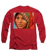 The Pride Of Indian Womenhood Long Sleeve T-Shirt by Kim Bemis