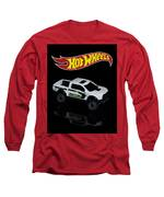 Hot Wheels Ford F-150 Raptor Long Sleeve T-Shirt by James Sage