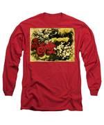 Flower Bouquet Long Sleeve T-Shirt by Bliss Of Art