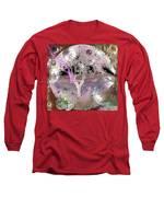 Purple Aura Long Sleeve T-Shirt by Valerie Anne Kelly
