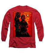 You And Me Long Sleeve T-Shirt by Bliss Of Art