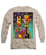 I Come In Peace - Heavy Metal Long Sleeve T-Shirt by Sotuland Art
