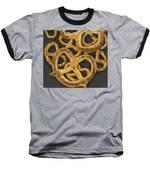 Pretzels Study Baseball T-Shirt by Jennifer Hotai