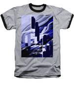Skyline Reflection On Water Baseball T-Shirt by Jennifer Hotai