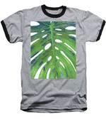 Tropical Leaf With Blue II Baseball T-Shirt
