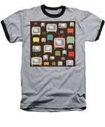 retro TV pattern  Baseball T-Shirt