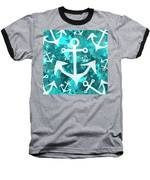 Maritime Anchor Art Baseball T-Shirt