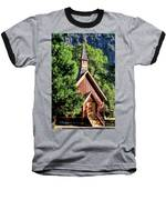 Yosemite National Park Valley Chapel Baseball T-Shirt by Christopher Arndt