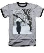 Snow Day Baseball T-Shirt by Lora J Wilson
