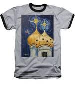 Stars Near And Far Baseball T-Shirt by Maria Langgle