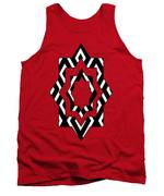Black And White Pattern Tank Top