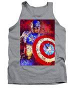 Captain America Tank Top by Al Matra