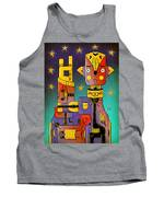 I Come In Peace - Heavy Metal Tank Top by Sotuland Art