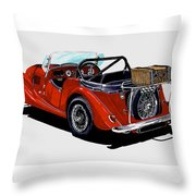 Morgan 4 Plus 4 1961 Throw Pillow