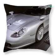 1997 Porsche 911 Gt1 Street Version Throw Pillow